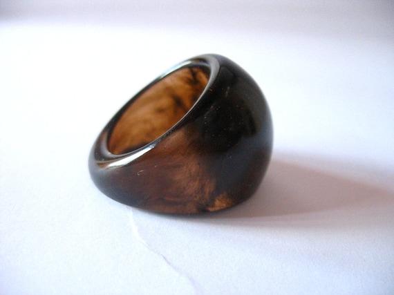 Resin Tortoise Shell Cocktail Ring