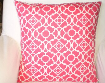 Decorative Throw Pillow Cushion Covers Raspberry Cream Lovely Lattice by Waverly Various Sizes