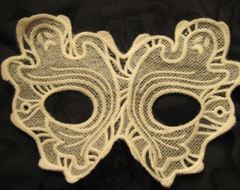 White Ghostly Lace Mask