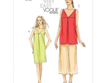 Sz 8/10/12/14 - Vogue Sewing Pattern v8655 - Misses' Tunic, Dress and Pants - VERY EASY VOGUE