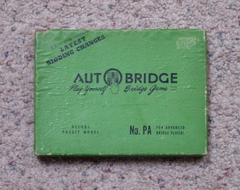 "Vintage "" Auto Bridge Play Yourself Card Game "" Game"