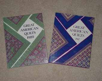 """2 Hardcover Books  """" Great American Quilts """" Annuals 1987 and 1989"""