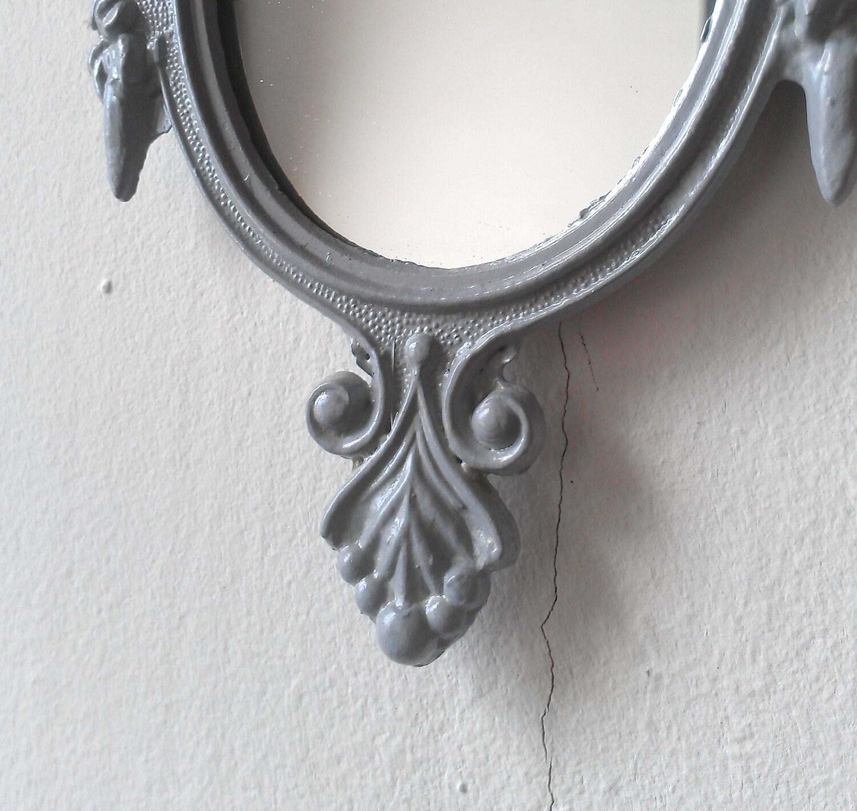 Small Decorative Mirror Grey Home Decor by SecretWindowMirrors