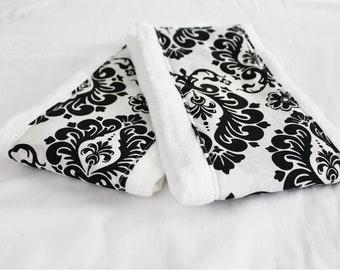 Damask Baby Burp Cloths - Set of 2