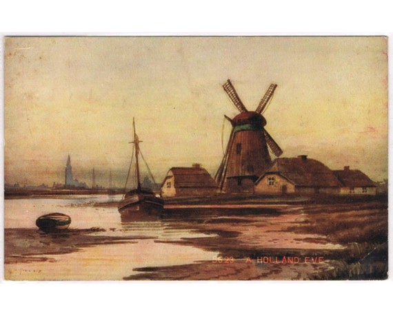 Vintage Postcard Holland - Windmill - Europe
