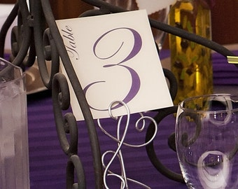 Wedding Table Number Simple and Elegant Reception Decor all of my Font Colors Available