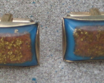 Fab Vintage Whimsy Cufflinks Set Very Retro N Modern Lucite By Hickok