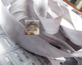 Rayon Seam Binding Ribbon Gun Grey