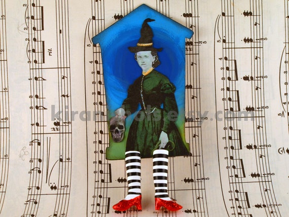 The ORIGINAL Wicked Witch Bookmark with Ruby Slippers - Wicked Awesome Series 30/100 - Witch Legs Bookmark