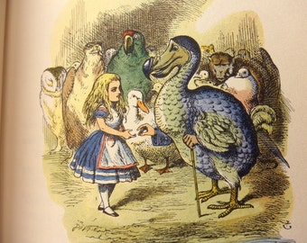 Vintage Book-Alice In Wonderland AND Through the Looking Glass, Junior Library