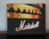 SALE Canvas Print 8x10 Marshall Guitar Amp Rock Photo Art for the Musician Music