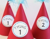 Dr Seuss Birthday Party Hat // Thing 1 and Thing 2
