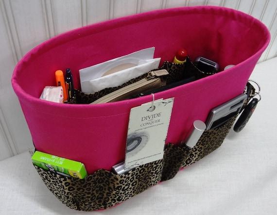 "Purse ORGANIZER insert SHAPER / Bag Organizer / With stiff, wipe-clean bottom / Extra Sturdy / 13.5"" x 6"" x 8""H / Ready to ship"