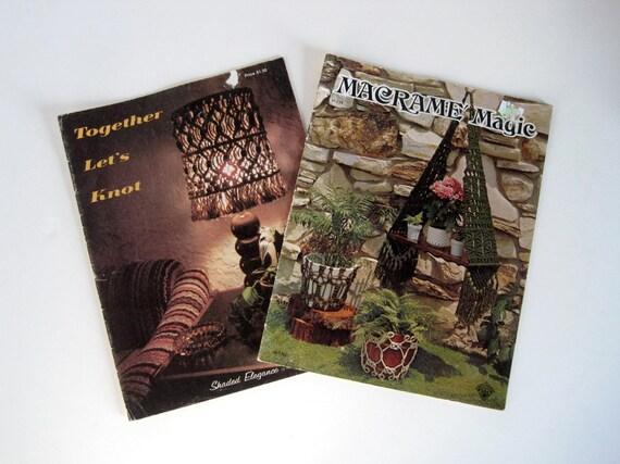 Macrame Instruction Books - Macrame Knotting Patterns - Macrame Lampshade - Aztec Dial