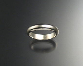Sterling Silver Half Round Wedding band, any size