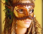 Egyptian Gypsy Goddess OOAK Hand Painted Venetian Mask