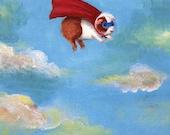 Guinea Pig Superhero Print