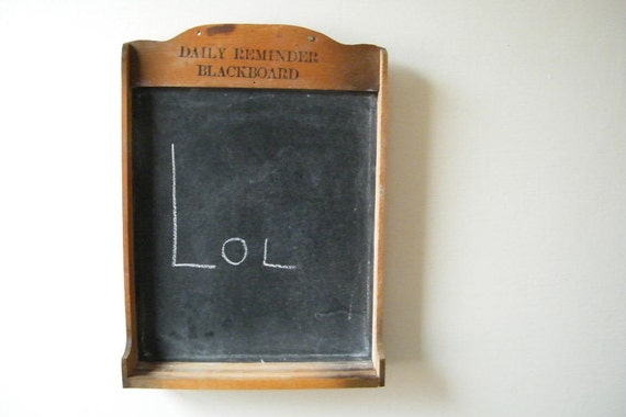 Vintage Mid Century Daily Reminder Blackboard Chalk Board Notes Schoolhouse