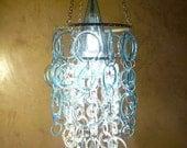 Reserved listing for Chris - Aqua chandelier