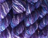 CLEARANCE -- Recycled Yarn Purple Tears  -  Bulky Weight  -- Lot 470