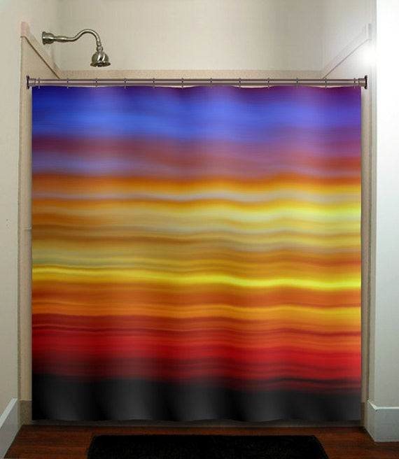 Beautiful color cloud sky sunrise sunset shower curtain for Sunset bathroom designs
