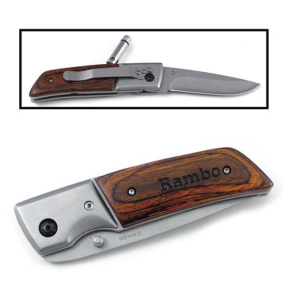 laser engraved rosewood led hunting