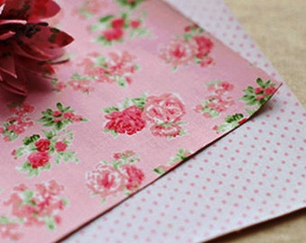 2 Set - Floral Pink & Dot Reform Fabric Stickers (A4)