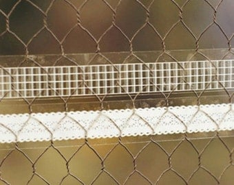 2 Set - Lace & Check Glass Tapes - Grid (0.6in)
