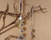 SET OF 2 - 30% Lead Crystal AB Ornament/Favor/Suncatcher