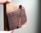Vintage Steak Knives Set - Large Wooden Letterpress Printer's Block