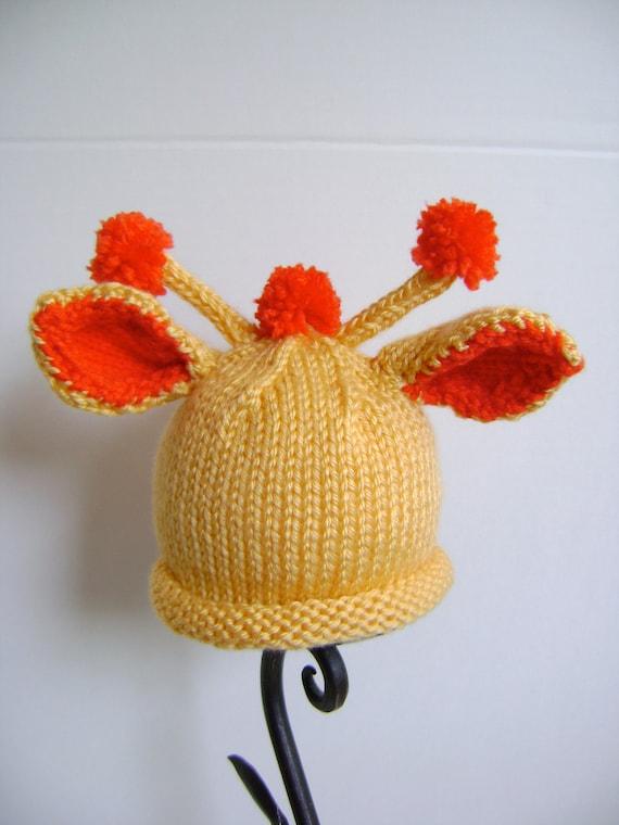 Giraffe Hat PATTERN - Newborn to Toddler Sizes - Great Costume Hat - Instant Download