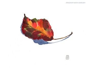 Original watercolor of Leaf