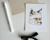 Fox Art Postcard - Illustrated by Natasha Gardos