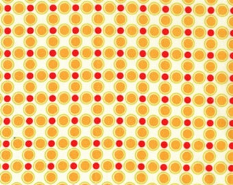 Meadow Dot in Citrus, Sandi Henderson, Meadowsweet Collection for Michael Miller Fabrics, 1 Yard