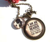 Sherlock Necklace Sherlock Holmes Necklace Literary Quote Necklace Literary Gift Book Lover Gift Reader Gift Quote Jewellery Literary Lover