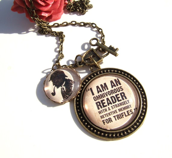 Sherlock Necklace Sherlock Holmes Necklace Literary Quote Necklace Literary Jewellery Book Lover Gift for Bibliophile