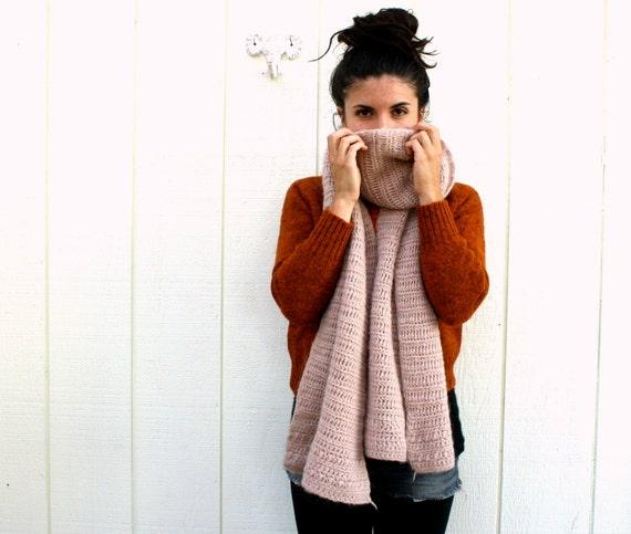 november winds // oversize wool knit scarf