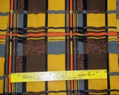 2 pcs 7 yards of Wide Mid Century Abstract Acetate Drapery Fabric in Orange and Browns