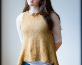 Antique Gold Tunic - Handknit Art to Wear