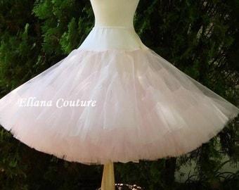 Soft Pink Tea Length Crinoline. MEGA Fullness Petticoat. Available in Other Colors