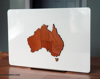 Australia Map Puzzle - Long Leaf Pine