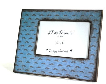 4 x 6 Picture Frame - Little Mustache Picture Frame