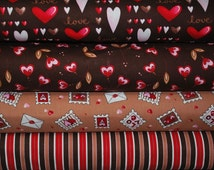 Sending My Love by Marie Cole for Henry Glass & Co. -- Fat quarter bundle Valentine Quilt Fabric