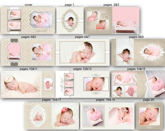 Baby Album template for Photographers - Taylor - 0350 FA