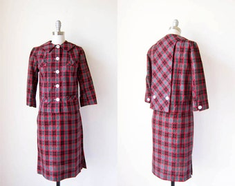 1960s Suit/ Red Plaid/ The Yorkshire Suit
