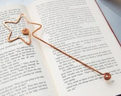 fairy wand copper bookmark in salvaged copper hand formed hand hammered faerie wand