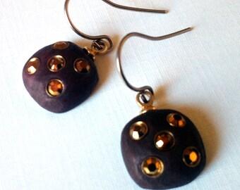 Earrings,Dangle wood Jewelry ,brown earrings, Square earrings,teenage Girl Jewelry -Taneesi
