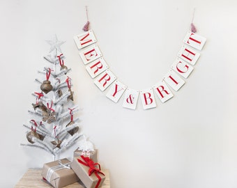 Merry & Bright Holiday Banner