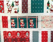 Christmas Holiday Retro Patchwork Quilted Throw