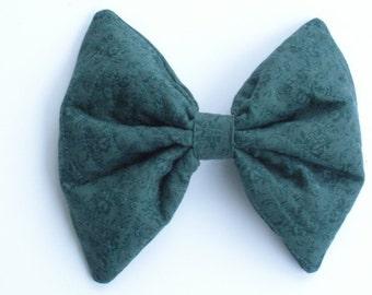 Hunter Green Hair Bow, Large Hair Bow, For Girls, For Women